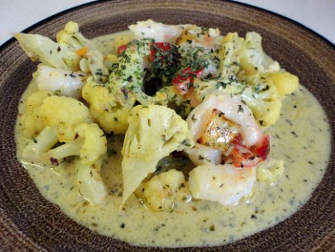 Shrimp & Cauliflower in Coconut Sauce