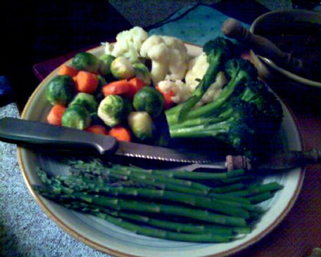 Karl's favorite steamed veggie platter