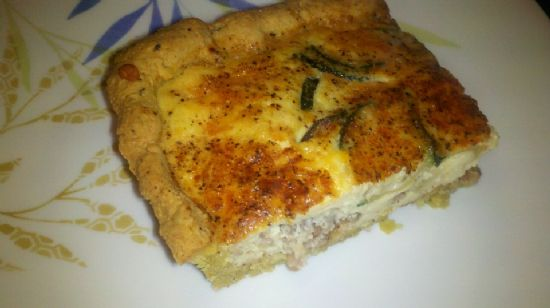 Zucchini Sausage Onion Quiche Filling