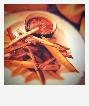 Crispy potato sticks with Roasted tomato salsa