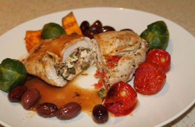 Chicken Breasts Stuffed with Goat Cheese and Sun-Dried Tomatoes