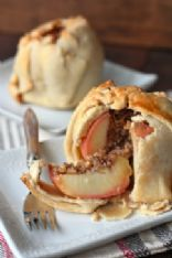 Wrapped Baked Apple Crumble