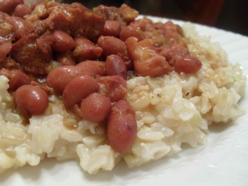 Slow Cooker Red Beans w/ Brown Rice