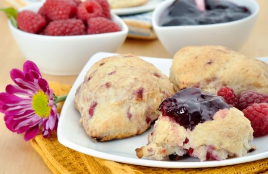 Raspberry-Lemon Scones