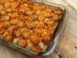 Cowboy Casserole with tator tots
