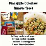 Mayo-free Pineapple Coleslaw