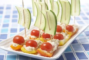 Tuna Boat Appetizers