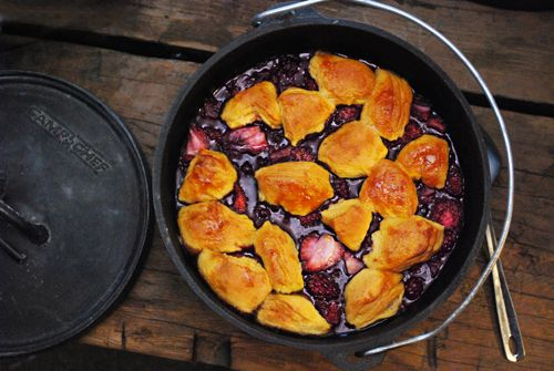 Mixed Berry Cobbler (Dutch Oven)