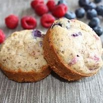 Grain Free Mixed Berry Muffins (Paleo)