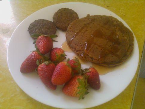 Vegan 100 Calorie Cinnamon Pancakes