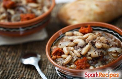 Pork and White Beans in Guinness