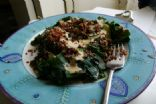 Rainbow Chard with Red Quinoa and Walnut Sauce