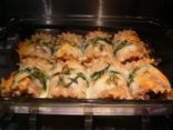 Eat Clean Baked Manicotti Bundles stuffed with Tilapia and Light Ricotta Cheese