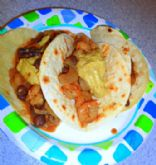 Shrimp & Black Bean Tacos (1/2 Cup)