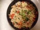 vegetable fried rice (brown)