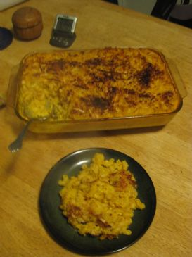 Yet another squash and mac and cheese recipe (higher protein version)