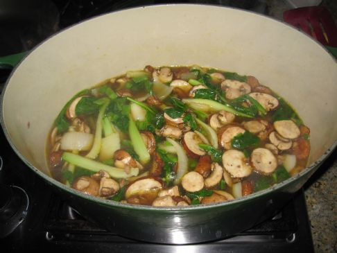 Mushroom & Bok Choy Soup