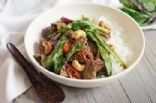 Beef, Cashew and Thai Basil Stir Fry