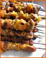 SOSATIES or South African Shish Kebabs