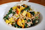 Golden Beet and Farro Salad with Spinach and Parmesan
