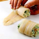 Broccoli and cheese Stuffed tilapia