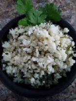 Cauliflower Rice w/lime & cilantro
