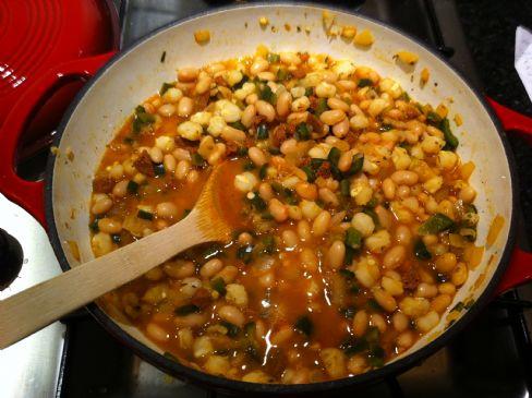 White Bean and Hominy Chili