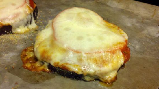 Baked Eggplant Parmesan Pizza
