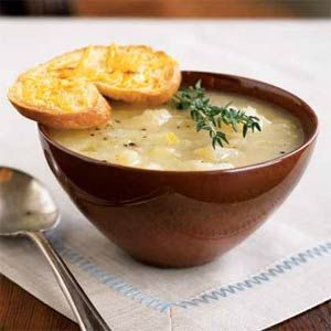 Unbelievable Potato Leek Soup