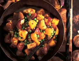 Peppered Butternut Squash and Potato Ragout