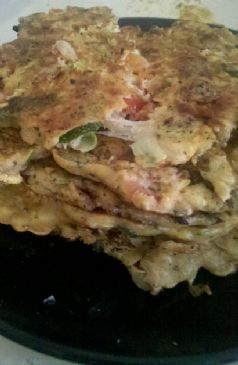 Zucchini Tomato & Gruyere Pancakes