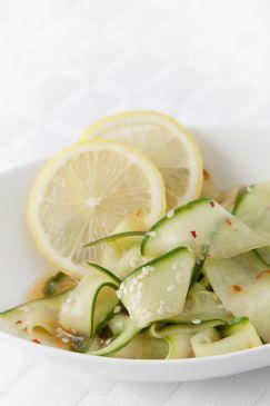 Sesame Cucumber Ribbons