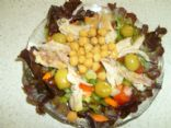 Susie's Raw Salad  and Cooked Chicken  Lunch