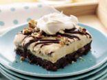 Brownie Ice cream dessert