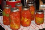 Homemade chunky spaghetti sauce for canning
