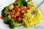 Teriyaki tofu with broccoli