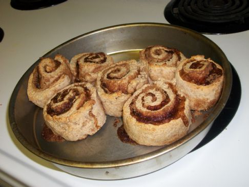 Cinnamon Rolls with soy protein and whole wheat