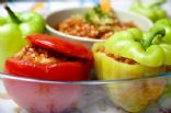 Peppers Stuffed with Quinoa, Spinach and  Feta Cheese