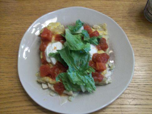 Enchilada with Vegtables & Green Sauce