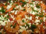Shrimp with Feta Cheese