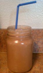 Make Ahead Breakfast Smoothie (Chocolate, PB2 & Oatmeal)