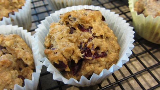 Dairy-Free Oatmeal Craisin Muffins
