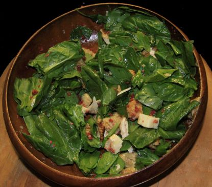 spinach ceasar salad for eye and skin health