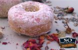 Baked Lavender Rose Donuts