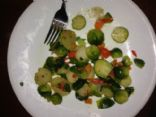 Brussel Sprouts and Roasted chestnuts