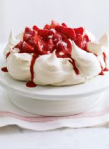 Delia's Strawberry and vanilla pavlova