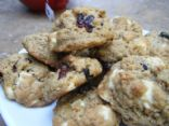 Strawberry Oatmeal White Chocolate Chip Cookies