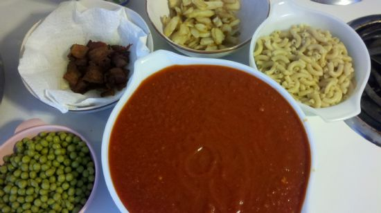 Spaghetti Sauce, meatless, gluten- and corn-free, 3/4 C serving