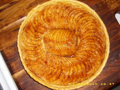 French Rustic Apple Tart Recipe | SparkRecipes