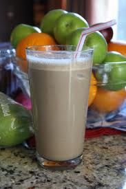 Arai Protein shake made with Almond milk